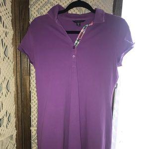 Purple Waffle-Knit-Like Dress